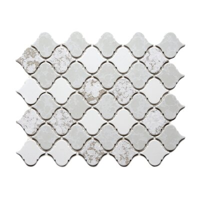 Tessen 2.2 x 2.5 Porcelain Mosaic Tile in Mystic White