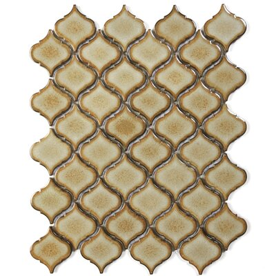 Tessen 2.2 x 2.5 Porcelain Mosaic Tile in Toast Brown