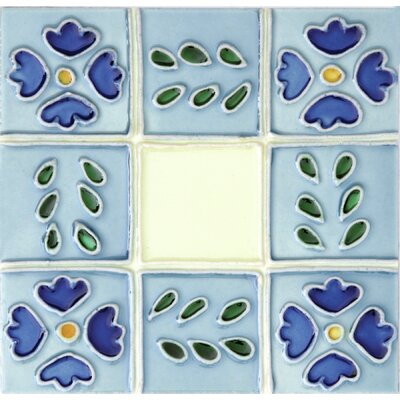 Hand-Painted 6 x 6 Ceramic Field Tile in Ventana