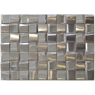 Fa�ade 1.875 x 1.875 Metal Mosaic Tile in Mirror