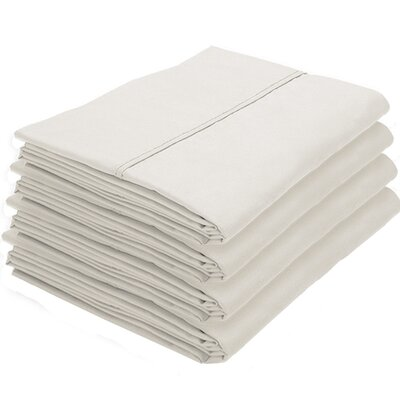 Dupras Bulk Pack Double Brushed Pillow Case Color: Ivory