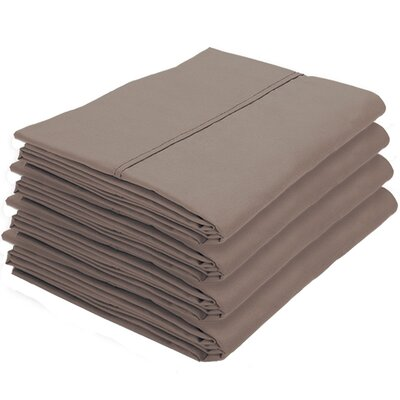 Dupras Bulk Pack Double Brushed Pillow Case Color: Taupe