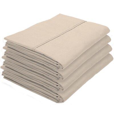 Dupras Bulk Pack Double Brushed Pillow Case Color: Sand