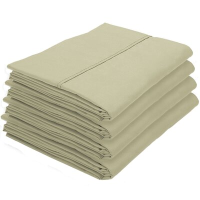 Dupras Bulk Pack Double Brushed Pillow Case Color: Sage