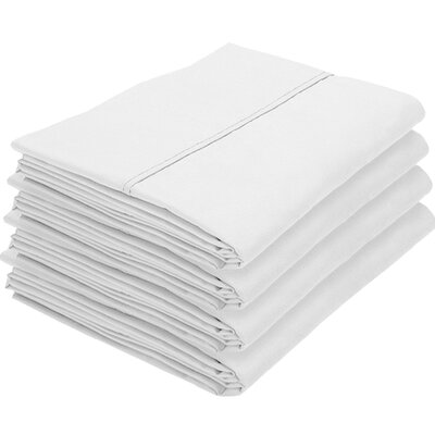 Dupras Bulk Pack Double Brushed Pillow Case Color: White