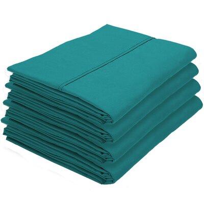Dupras Bulk Pack Double Brushed Pillow Case Color: Emerald
