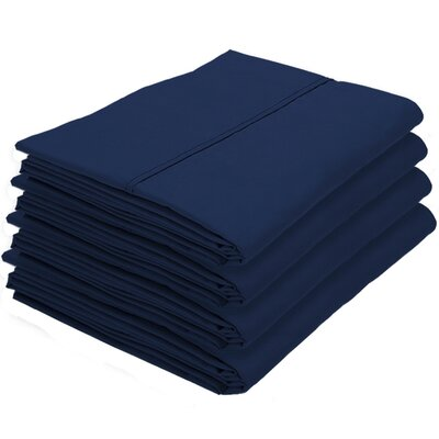 Dupras Bulk Pack Double Brushed Pillow Case Color: Dark Blue