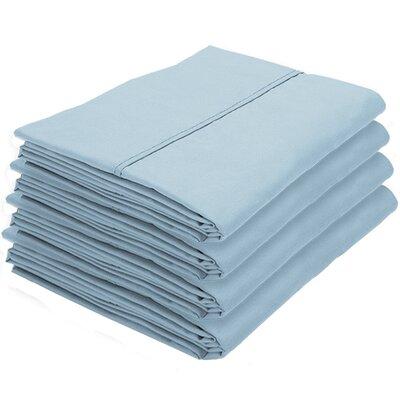 Dupras Bulk Pack Double Brushed Pillow Case Color: Light Blue