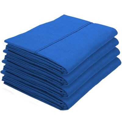 Dupras Bulk Pack Double Brushed Pillow Case Color: Medium Blue