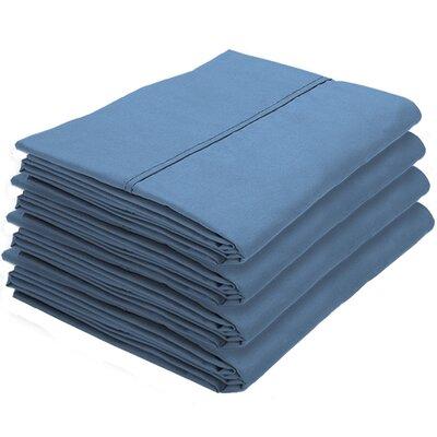 Dupras Bulk Pack Double Brushed Pillow Case Color: Coronet Blue