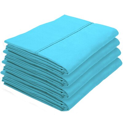 Dupras Bulk Pack Double Brushed Pillow Case Color: Aqua