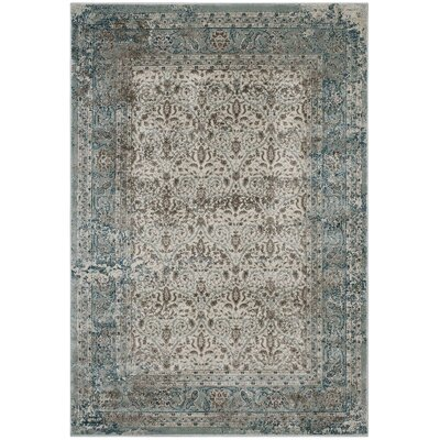 Housel Vintage Lattice Teal/Beige Area Rug Rug Size: Rectangle 8 x 10