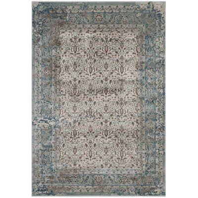 Housel Vintage Lattice Teal/Beige Area Rug Rug Size: Rectangle 5 x 8