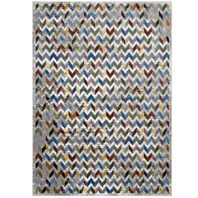 Edwina Gray/Blue Area Rug Rug Size: Rectangle 4 x 6