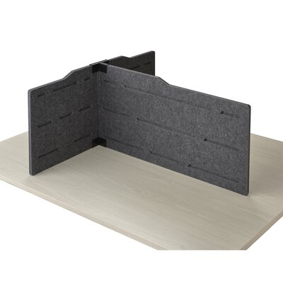 Keaney 17.5 x 37 Desk Privacy Panel Finish: Gray