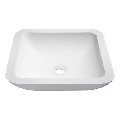 Ares Stone Square Vessel Bathroom Sink