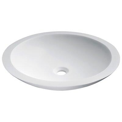 Juniper Stone Circular Vessel Bathroom Sink