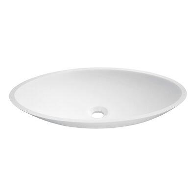Achillies Stone Oval Vessel Bathroom Sink