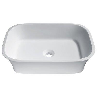 Ajeet Stone Rectangular Vessel Bathroom Sink