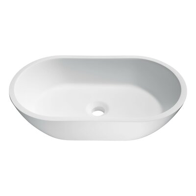 Runifer Stone Oval Vessel Bathroom Sink