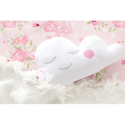 Cloud Felt Throw Pillow Color: Pink