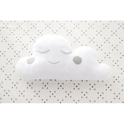 Cloud Felt Throw Pillow Color: Gray