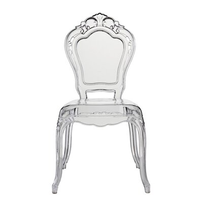 Mccroskey Premium Fashion Acrylic Princess Dining Chair (Set of 4) Color: Clear