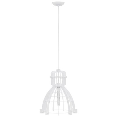 Dunnigan 1-Light Mini Pendant Finish: White