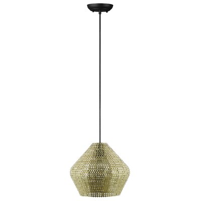 Nowell 1-Light Mini Pendant Finish: Gold