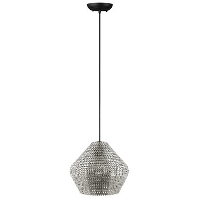Nowell 1-Light Mini Pendant Finish: Nickel