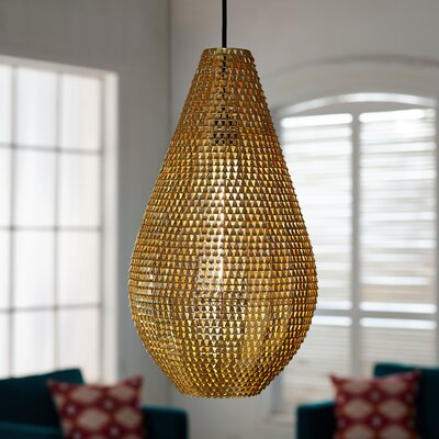 Nowak 1-Light Mini Pendant Finish: Gold