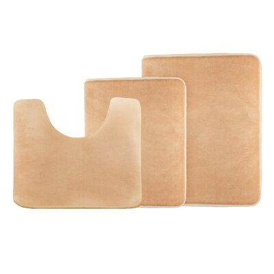 Legler Non-Slip 3 Piece Bath Rug Set Color: Cream