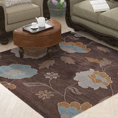 Craven Hand-Woven Wool Brown Area Rug Rug Size: Square 6