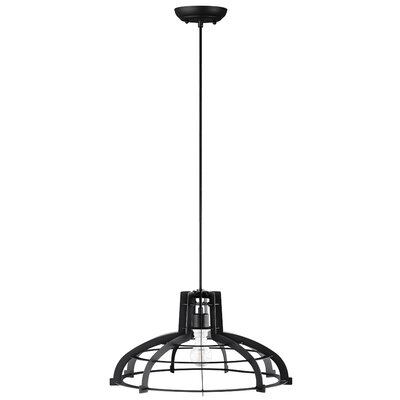 Dunnigan 1-Light Inverted Pendant Finish: Black