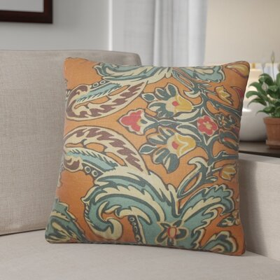 Dolton Modern Linen Throw Pillow Color: Orange