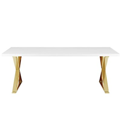 Scanlan Dining Table Color: White Gold