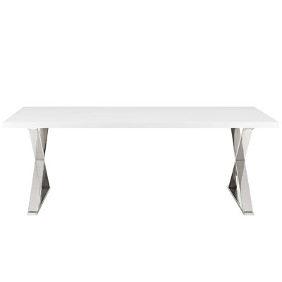 Scanlan Dining Table Color: White Silver