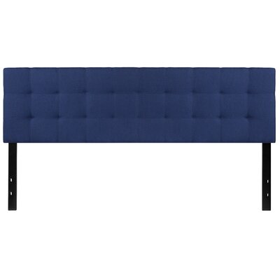Fitzgibbon Bedford Tufted Upholstered Panel Headboard Size: Twin, Upholstery: Navy
