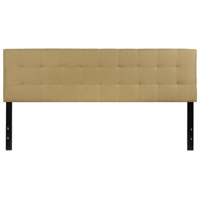 Fitzgibbon Bedford Tufted Upholstered Panel Headboard Size: King, Upholstery: Green