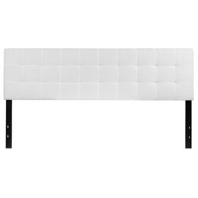 Fitzgibbon Bedford Tufted Upholstered Panel Headboard Size: Full, Upholstery: White