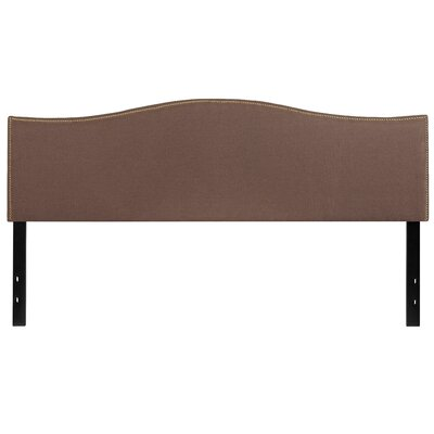 Fitzsimmons Upholstered Panel Headboard Size: Queen, Upholstery: Camel