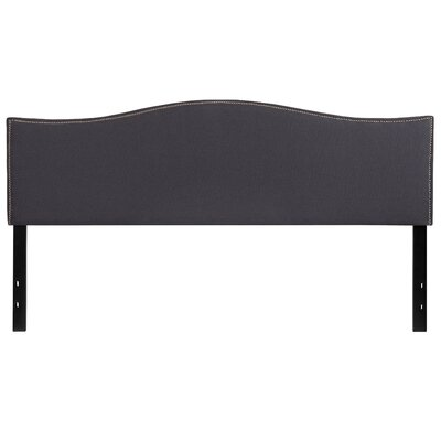 Fitzsimmons Upholstered Panel Headboard Size: Twin, Upholstery: Dark Gray