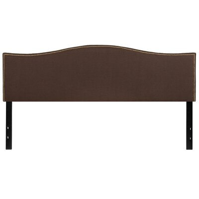 Fitzsimmons Upholstered Panel Headboard Size: King, Upholstery: Dark Brown