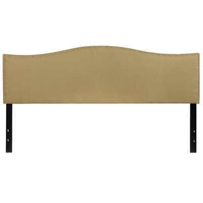 Fitzsimmons Upholstered Panel Headboard Size: Queen, Upholstery: Green