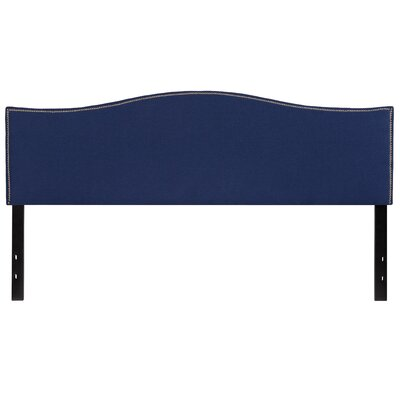 Fitzsimmons Upholstered Panel Headboard Size: King, Upholstery: Navy