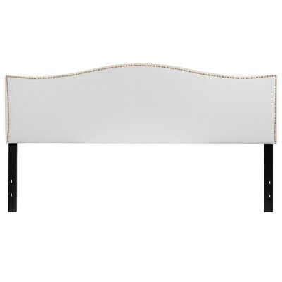 Fitzsimmons Upholstered Panel Headboard Size: Full, Upholstery: White