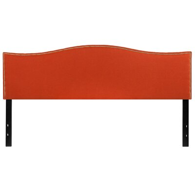Fitzsimmons Upholstered Panel Headboard Size: Twin, Upholstery: Orange