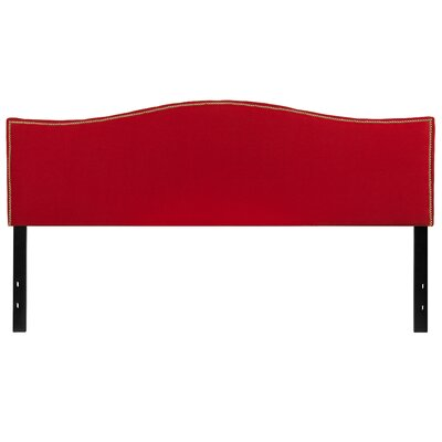 Fitzsimmons Upholstered Panel Headboard Size: Full, Upholstery: Red