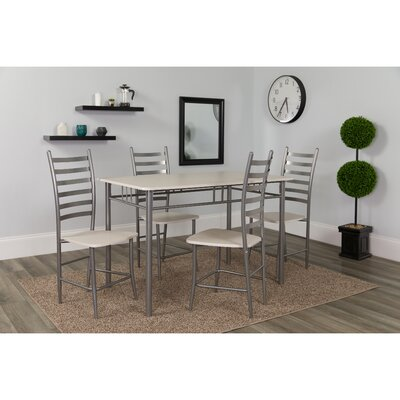 Millers Manhattan 5 Piece Dining Set Color: Whitewashed/Beech