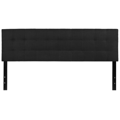 Fitzgibbon Bedford Tufted Upholstered Panel Headboard Size: Full, Upholstery: Black